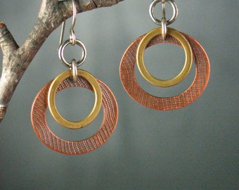 Copper and Brass Hoops