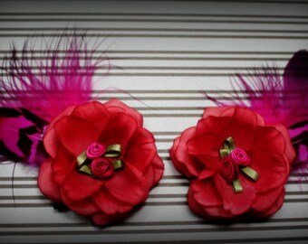 SALE 25% OFF!!! Punk Rock Pink Hoopgirl Hairclips