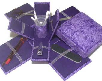 Etui Box Manicure Kit  Purple Bridesmaid Gifts