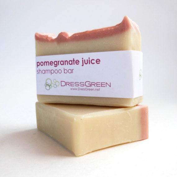 Pomegranate Juice Shampoo Bar with Meadowfoam Seed Oil and Rice Protein