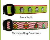 Seasonal Dog Collars, Christmas Dog Collars, Xmas Dog Collars, Winter Dog Collars, Holiday Collars, Skull Dog Collars, Ornaments, Dog Paws,