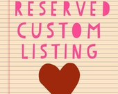 Reserved Listing for Dana Schott