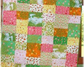 Baby Girl Quilt Briar Rose Nursery Bedding Crib Bedding Nature Pond Honey Bee Strawberries