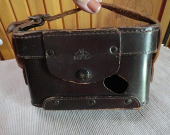 Brown Leather or Raw Hide Camera Case or Holder