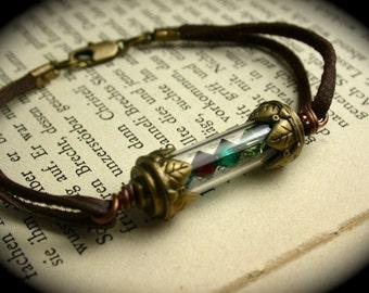 Custom Birthstone Vial Bracelet, Choose up to 4 Swarovski Crystal Birthstones