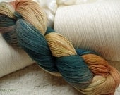 Hand painted Mousoucot Bamboo/Cotton yarn, 4 oz, Southwest Dawn