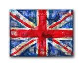union jack art | canvas painting original red white blue UK England British Flag art