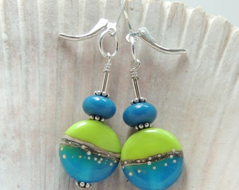 ATLANTIS Handmade Lampwork Bead Dangle Earrings
