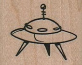 UFO,  wood mounted art and craft supplies,   tateam  Item 8106