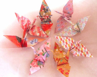 8  Wedding Table Party Favors Eco Friendly Origami Peace Cranes Pink Japanese Traditional Paper 1st Anniversary Table Decoration
