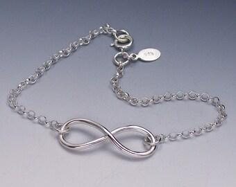 Silver Infinity Bracelet, Figure 8 Bracelet