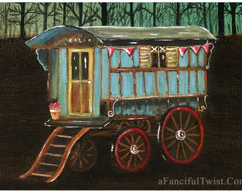 Gypsy Wagon - 5 Postcard Set