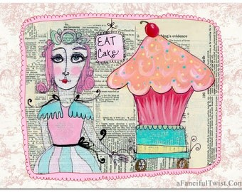Super Bake Girl- Eat Cake - 5 Postcard set