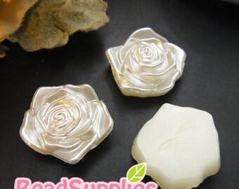 CA-AR-00208- Acrylic pearl, ,lovely  Rose, 12 pcs