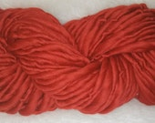 Bright Red Merino Bulky Single Ply 51 yards 3.9 oz