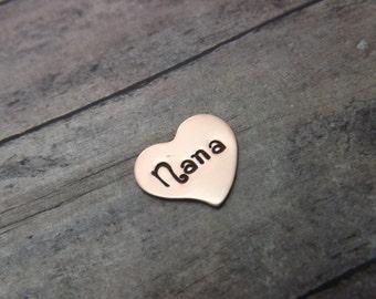 glass locket charm-copper heart-add on