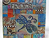 Friends PC Tile Mosiac Dragonfly Hummingbird Owl 13088