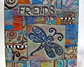 Friends PC Tile Mosiac Dragonfly Hummingbird Owl MM40021-14