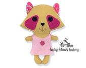 Kawaii Tanuki Racoon Easy Animal Doll Sewing Pattern PDF INSTANT DOWNLOAD