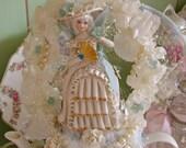 Reserved Bridal Centerpiece / Bone China Bride Figurine / Bridal Shower Tea Party