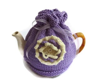 funky flower power tea cosy cozy knitting pattern