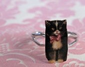 Purrfect Cat Ring with Bow
