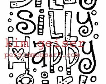silly silly happy girl digital download