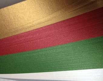 """1/2"""" Weaving Paper Strips~ Shimmer Holiday (100 strips)"""