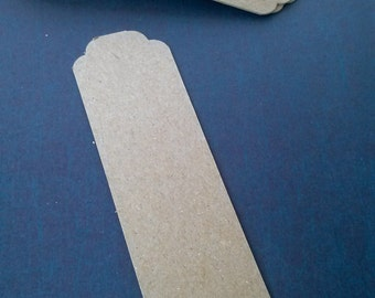 Bookmarks, Chipboard Bookmarks, Set of 20, DIY Bookmark, Thick Bookmark