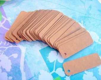 50 chipboard tags 1x3 inch