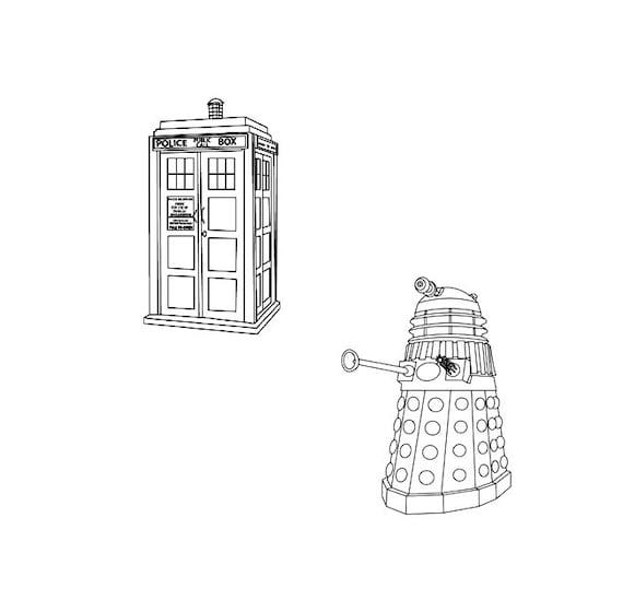 Doctor Who Tardis Amp Dalek Rubber Stamp Set