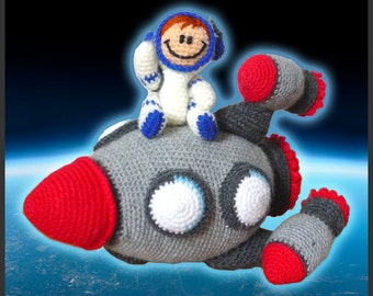 Amigurumi Pattern Crochet Spaceship and Astronaut DIY Digital Download