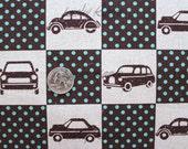 Echino Ni-co auto Patchwork bruin stof - Half Yard