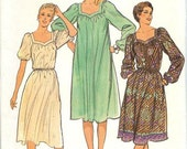 Vintage 1980s Sewing Patterns Dress Butterick 3788 OR Cape Butterick 4110