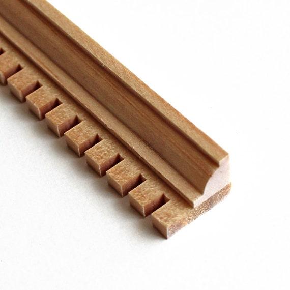 Wood dentil molding exterior