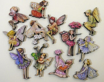 Flower Fairies - Wood Laser Cut Craft Embellishments