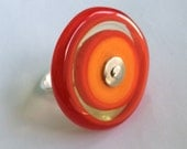 RESERVED - Large Orange and Red Circle Ring