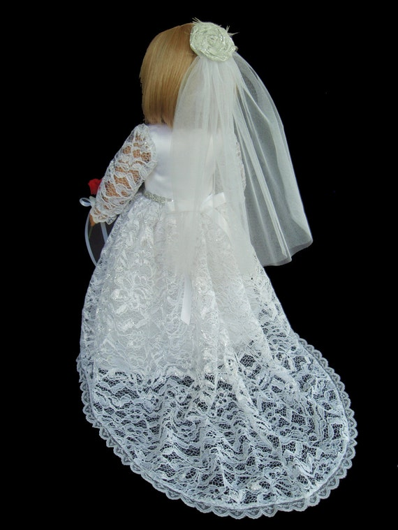 American girl doll clothes traditional wedding gown dress with for American girl wedding dress