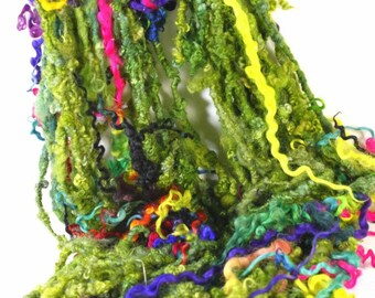 Handspun Art Yarn- Garden Party - Signature Jazzturtle TailSpun Artisan Yarn