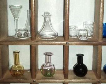MINIATURE Clear Glass Wine Decanter with Stopper Hand Blown by Jenn Goodale