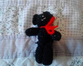 4in Shiny Black Kitty Toy