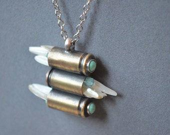 Body Armor Necklace Made With Recycled Brass Bullet Cases