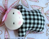 Reserved for Ricci, don't buy this doll, Waldorf doll, tiny baby, germandolls, bonbon baby