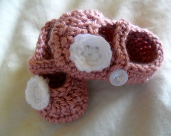 Made to Order Buttoned Mary Jane Booties with Circle Detail - 0-12 months - You Tell Me the Color