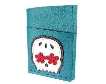 Skull Muerto ) Mini Card Wallet