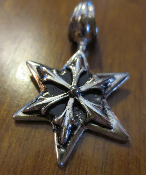 aged silver steunk chaos pendant jewelry