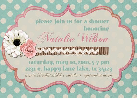 Invitación despedida de soltera o Baby ducha por sweetpeababy