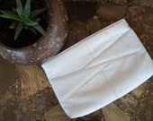 vintage White Angles Clutch eighties leather purse