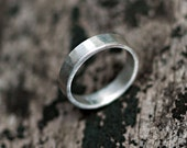 Wedding Band - Wedding Ring - Unisex - Recycled Sterling Silver - Hammered 4mm Band - EcoFriendly -Custom personalized - Rustic