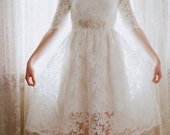 Ellie--2 Piece, Lace and Cotton Wedding Dress